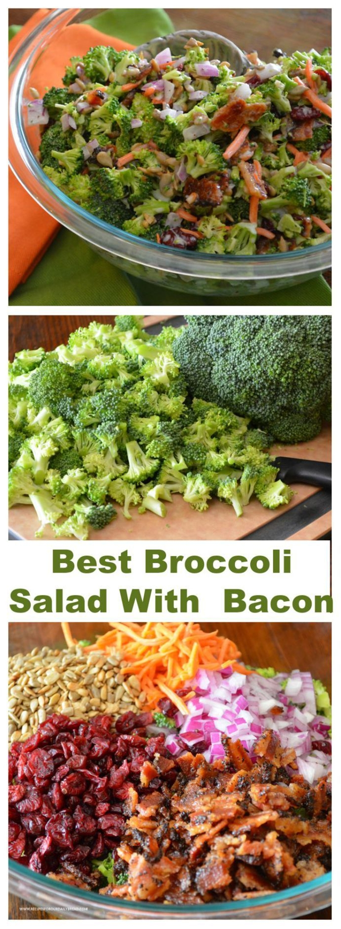 Broccoli Salad with Bacon Recipe - I need to get Lesley's receipe...she makes the best.
