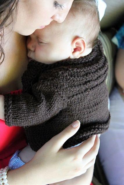 Ravelry:  Baby boy 5 hour sweater (pseeds' Little Coffee Bean)