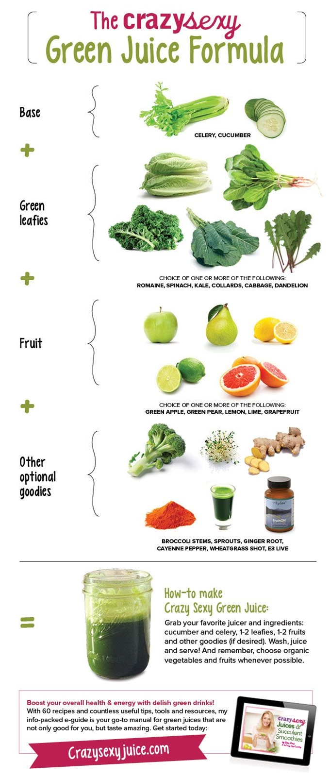 Kris Carr teaches you how to make her favorite green juice recipe, answers green juice FAQs and shares her green juice recipe infographic.