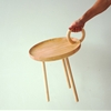 Small Flexible O-table Inspired by Antique Brass Candlesticks