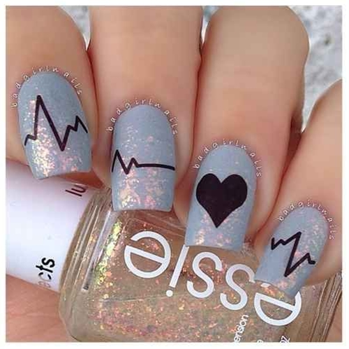 Ridiculously Sweet Valentine's Day Nail Art Designs