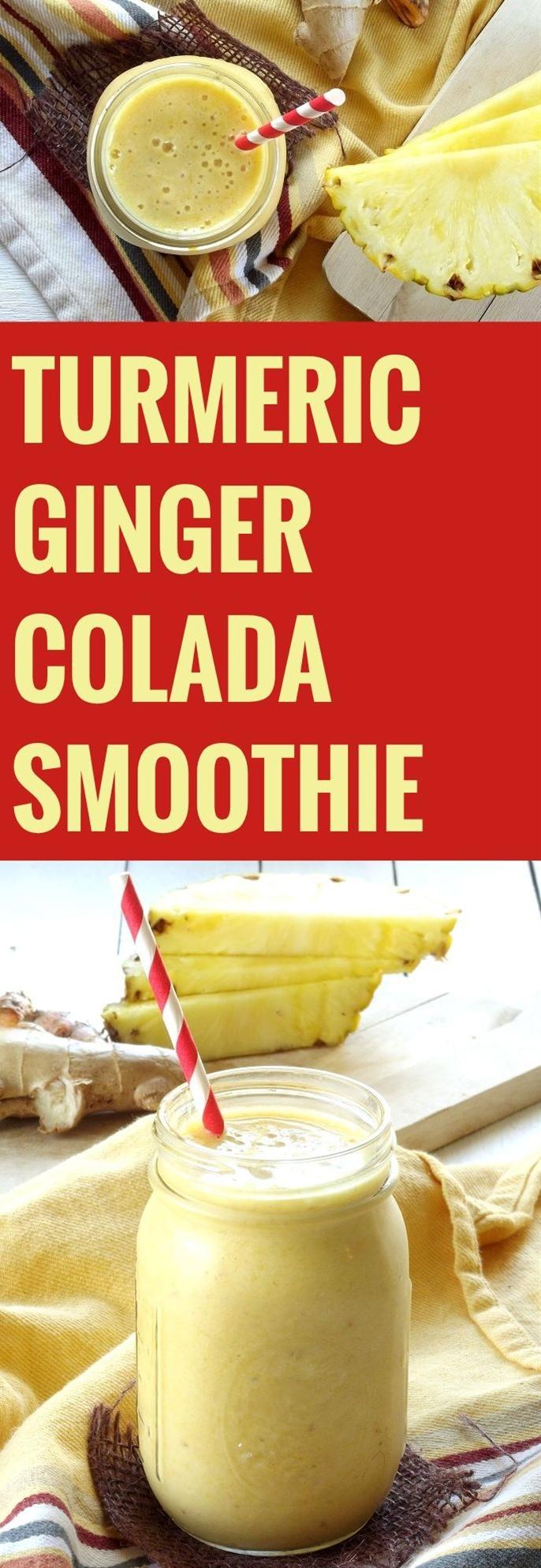 Turmeric Ginger Colada Smoothie