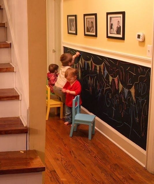 an idea to keep the walls clean and kids busy