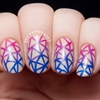 Handpainted Faceted Gradient Nail Art
