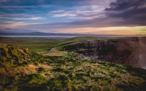 The Cliffs of Moher, Ireland. The storms are about to take the...