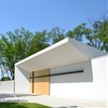 L.Art Architectural Office adds white funeral chapel to Hungarian cemetery