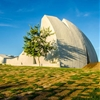 Concrete auditorium by Valentiny HVP Architects built for Brazil's Música em Trancoso festival