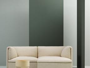 Monica Förster folds cushions over sofa modules for Fogia
