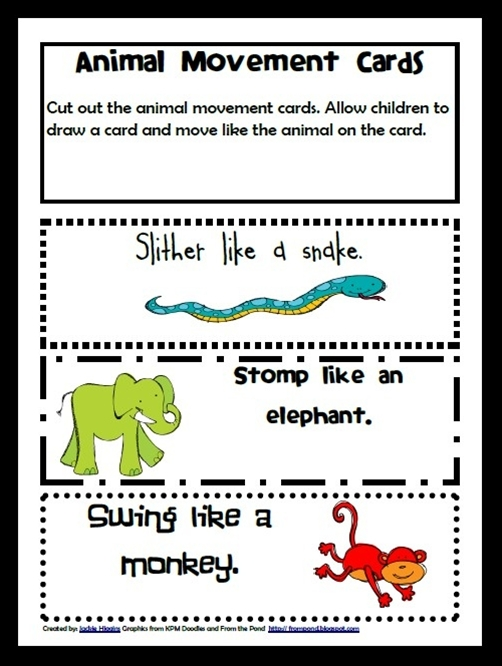 Zoo Animal Movement Game in Zoo Book Adventure Preschool Learning Pack- FREE!