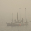 photosbythesea:  Sailing through the fog.
