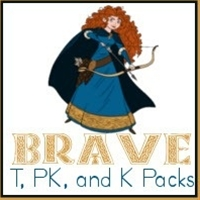 Brave Packs - Kindergarten, Preschool, and Toddler!  60 pages of activities including crossword, maze, matching, addition/subtraction, and much more!