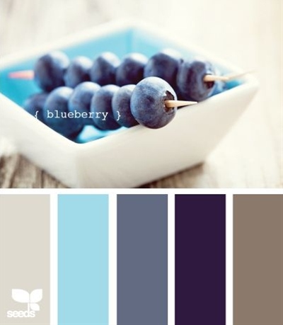 color palette in blues.