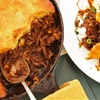 The Best Tamale Pie With Braised Skirt Steak, Charred Corn, and Brown Butter Cornbread Crust