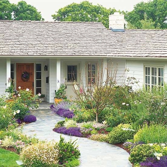 Add curb appeal, brighten your entryway, and make your home more inviting with a beautiful front yard flower gardenز