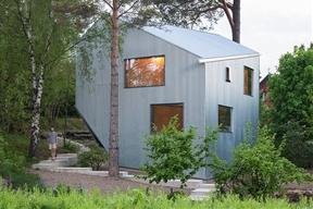 Sculptural and AffordablePrefab Home in Sweden