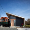 Contemporary Family Home Integrating a Vintage Car Train: Platform House in Japan