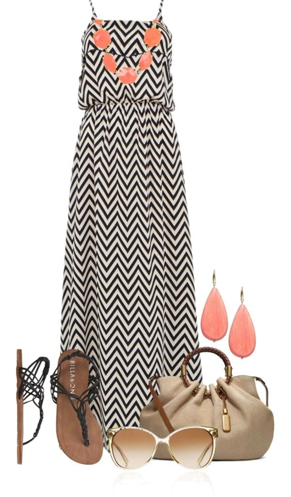 """""""Maxi Dress"""" by colierollers on Polyvore, just add a mint cardi, and I would totally wear this."""