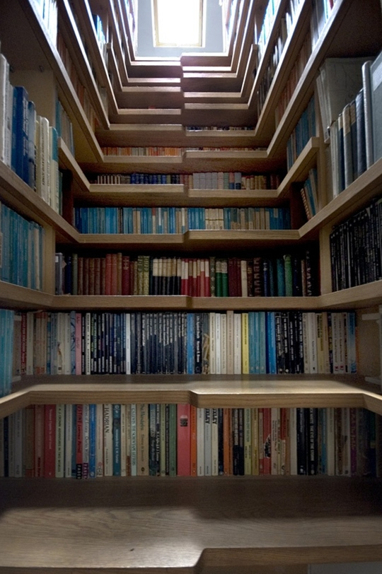 yes!!!!!!!! bookcase stairs. brilliant!