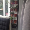Ikea towel hanger transformed into a vertical garden