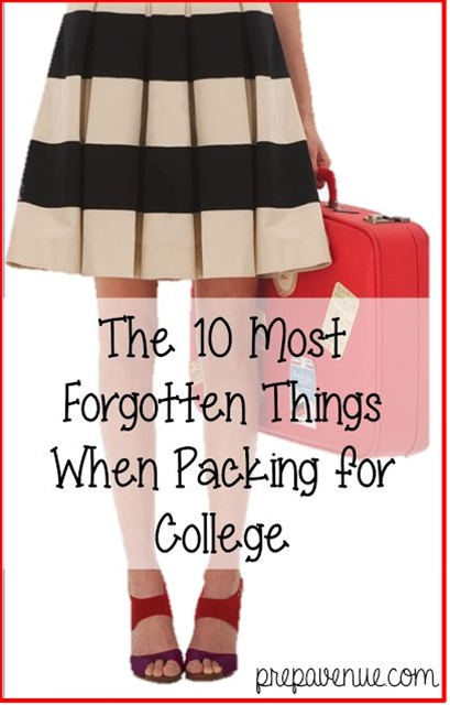 In honor of me moving in today, I thought I would provide you with 10 things that are easily forgotten, but essential for every college student!