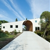 Pair of houses by Naf Architect & Design stand together to form an arch