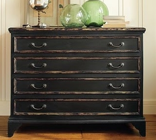 tips on painting furniture & then giving a wax finish (like Pottery Barn furniture)