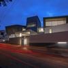 A Wild Modern Home Exterior Contains a Clean Modern Interior