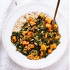 Coconut Curried Kale and Sweet Potato (plus a giveaway!)