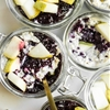 Coconut-Cardamom Vegan Overnight Oat Parfait with Blueberry Chia Seed Jam