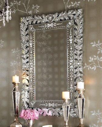 gorgeous venetian-style wall mirror