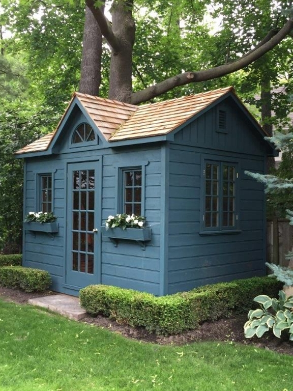 Gorgeous #garden #shed with lots of storage spaces, made to the specification of our customer.