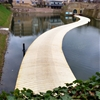 Floating bridge by RO&AD crosses the moat of a Dutch fortress