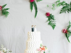 Botanical Texas Wedding with Ferns