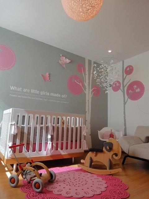 pink grey nursery