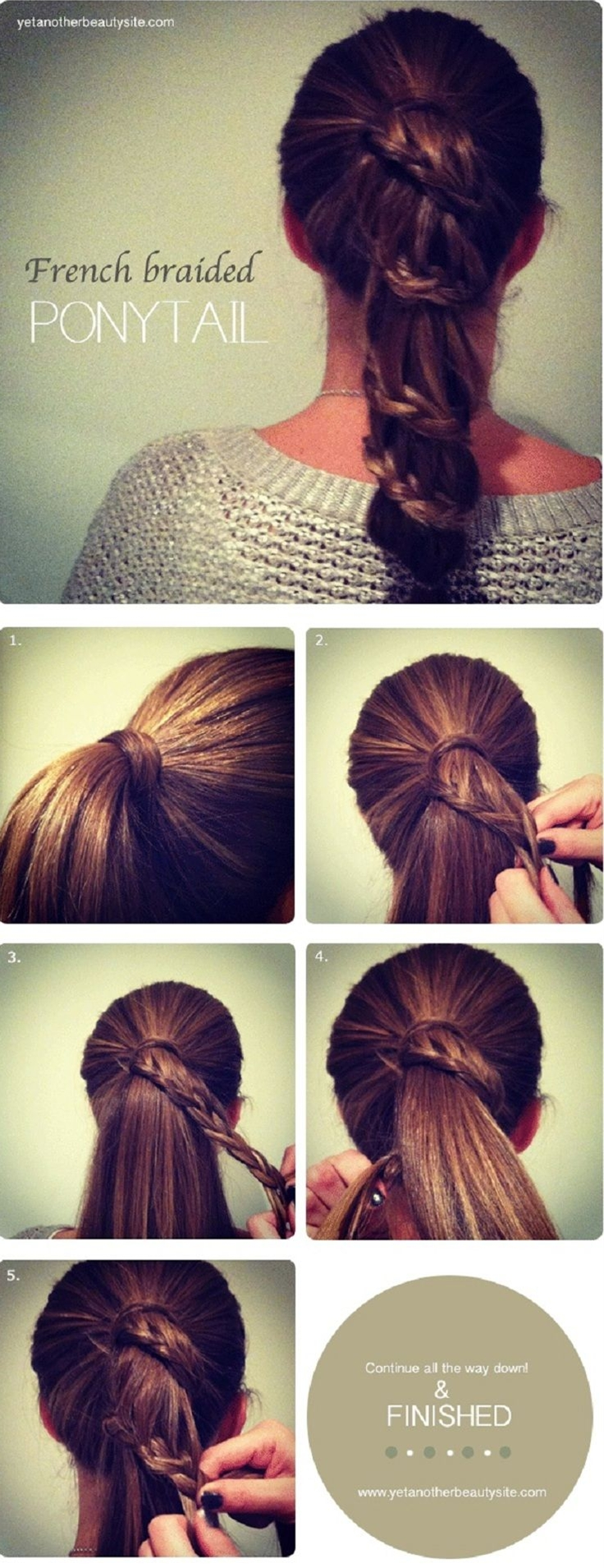 This is cute for girls with really thick hair. A tricky ponytail  to do but indeed head-turning! :)