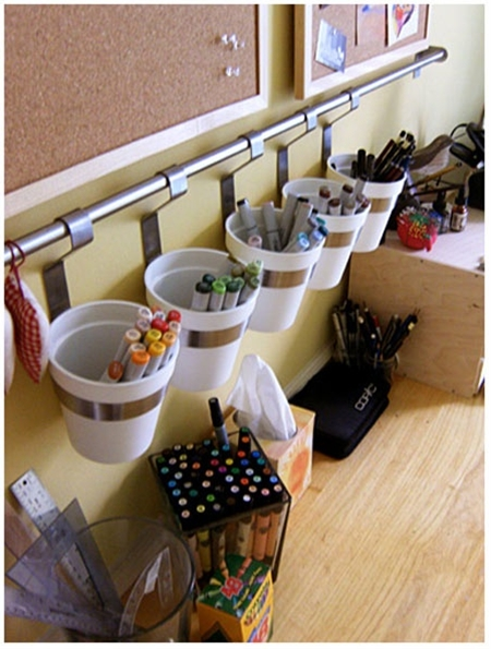 desk organization idea.