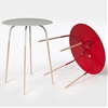 Andrew Cheng designs Chopsticks side tables with skinny legs