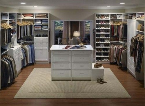 A large walk-in closet is a dream for every woman and for many families. Even though such closet can be found only in quite large houses, a small one walk-in closet can become a part of a smaller house