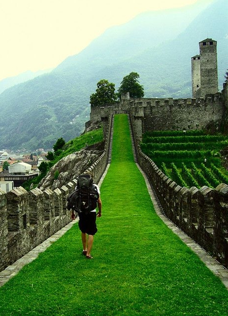 """Exploring one of the three castles in the Italian-speaking Swiss mountain town."""""""