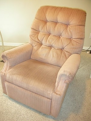 how to reupholster a lazyboy recliner for under 50 dollars! this is going to be my summer project!