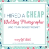 I Hired A Cheap Wedding Photographer