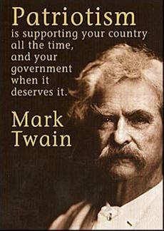 Twain on patriotism.