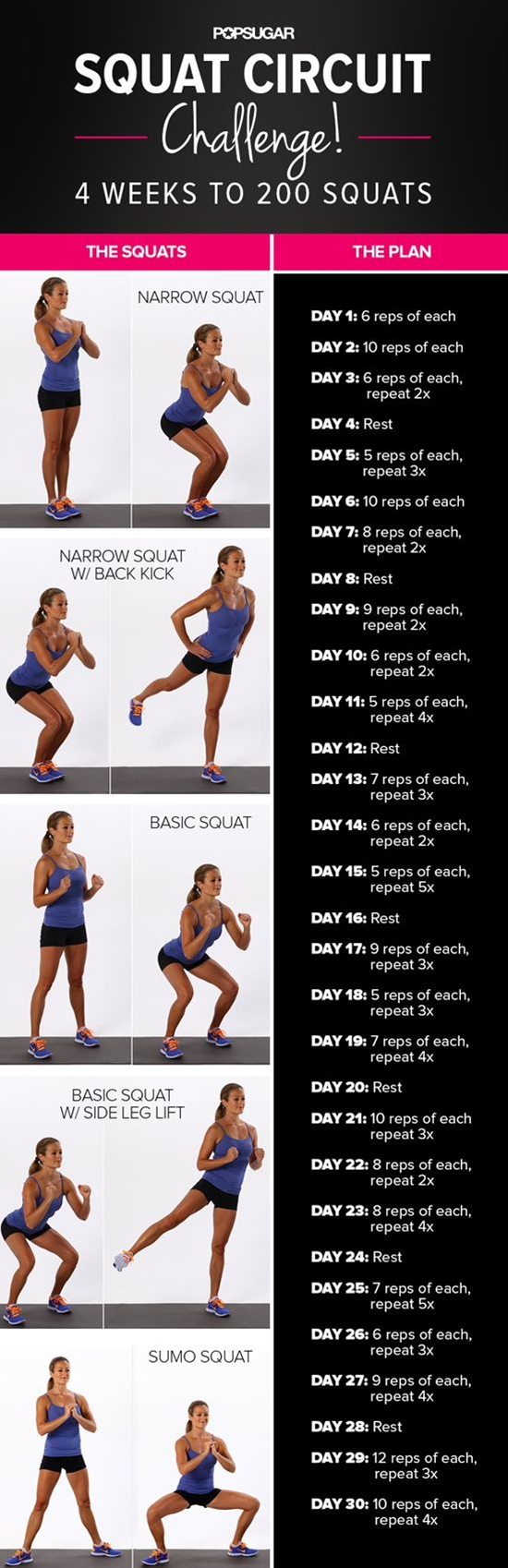 Give your backside some attention and try our four-week squat challenge!