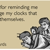 Thanks for reminding me to change my clocks that change themselves.