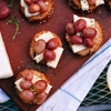 Roasted Grape Crostini with Brie and Fresh Thyme