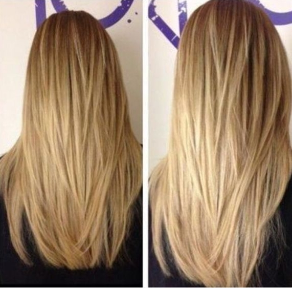If you want to make your long straight hair look more fabulous, then go to the magical layers. They will turn your plain hair look with a plenty of textures and movements.