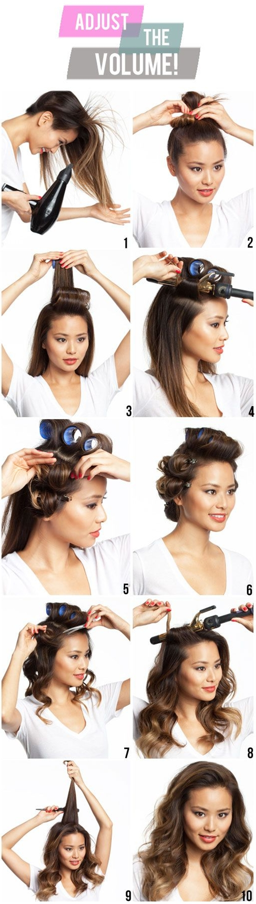 - 1 Add volumizer to your root. Blow dry upside down  