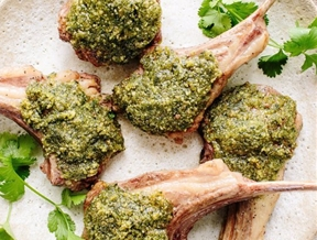 Recipe: Lamb Chops with Pesto Croute — Passover Recipes from The Kitchn