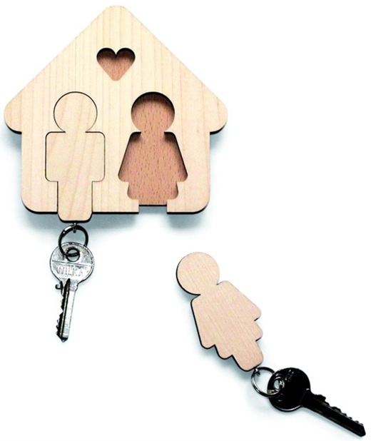 You could do this with first initials so everyone has a spot for their keys.