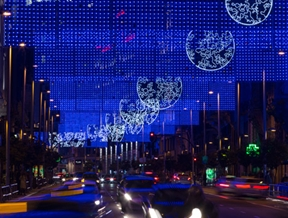 Madrid installs moon-themed Christmas lights